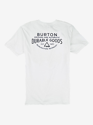 Burton Crafted SS Pocket Tee shown in Stout White