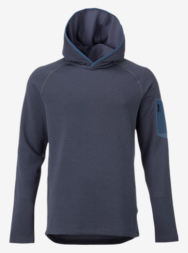 Burton [ak] Grid Hoodie shown in Washed Blue Heather