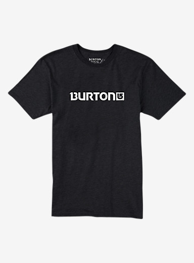 Burton Logo Horizontal Short Sleeve T Shirt shown in True Black Heather