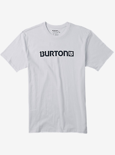 Burton Logo Horizontal Short Sleeve T Shirt shown in Stout White