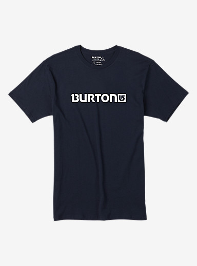 Burton Logo Horizontal Short Sleeve T Shirt shown in Eclipse