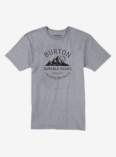 Burton Overlook Short Sleeve T Shirt shown in Gray Heather