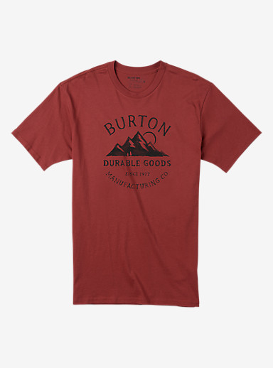 Burton Overlook Short Sleeve T Shirt shown in Brick Red