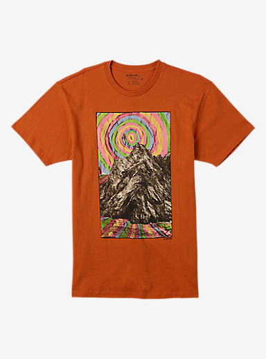 Burton Ashland Short Sleeve T Shirt shown in Gold Flame