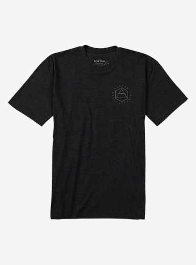 Burton Concrete Short Sleeve T Shirt shown in True Black Heather