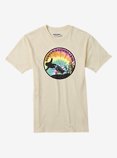 Burton Throwback Short Sleeve T Shirt shown in Canvas Heather
