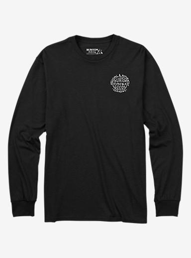 Burton Morrison Long Sleeve T Shirt shown in True Black Heather