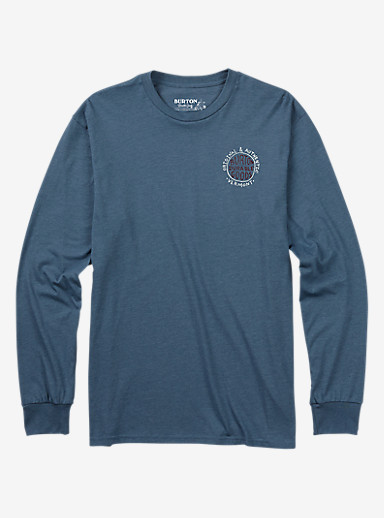 Burton Morrison Long Sleeve T Shirt shown in Blue Mirage Heather