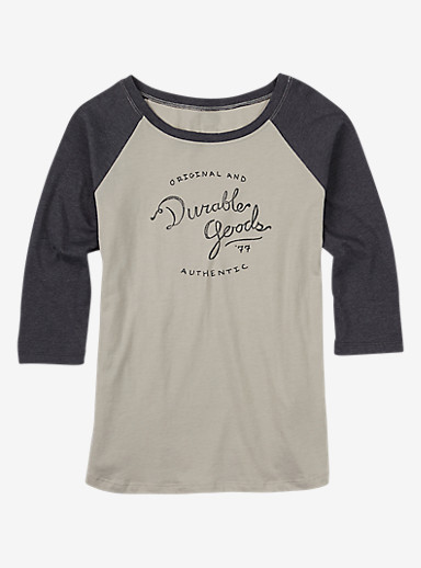 Burton Taylor Raglan Tee shown in Dove Heather