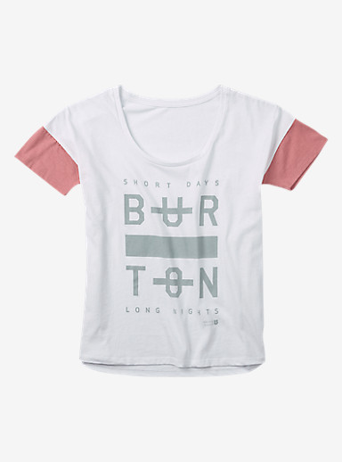 Burton Never Sleep T Shirt shown in Stout White