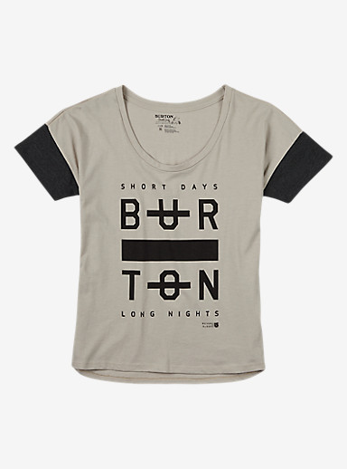 Burton Never Sleep T Shirt shown in Dove Heather