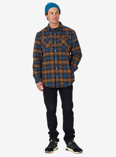 Analog Bowery Quilted Flannel shown in True Black
