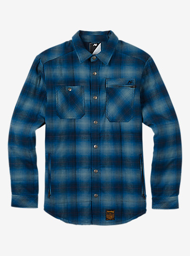 Analog Bowery Quilted Flannel shown in Lead