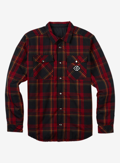 Analog Variant Reversible Flannel shown in True Black