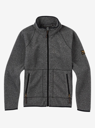 Burton Kids' Spark Full-Zip Hoodie shown in True Black Heather