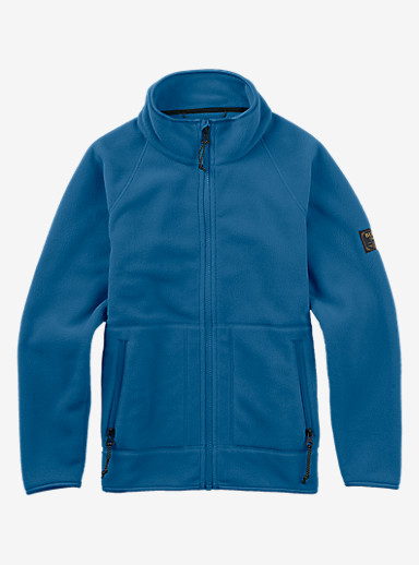 Burton Youth Spark Full-Zip Hoodie shown in Glacier Blue