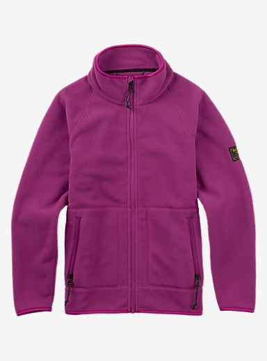 Burton Kids' Spark Full-Zip Hoodie shown in Grapeseed