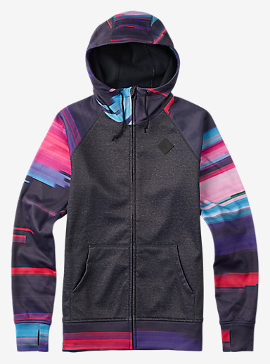 Burton Scoop Hoodie shown in True Black Heather / Flynn Glitch
