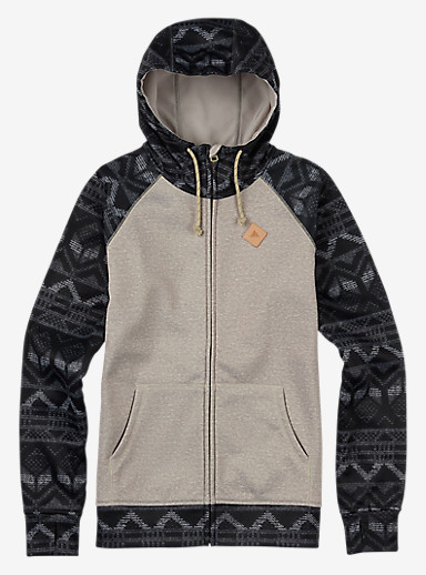 Burton Scoop Hoodie shown in Dove Heather