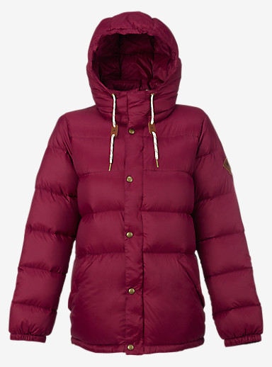 Burton Heritage Down Jacket shown in Sangria