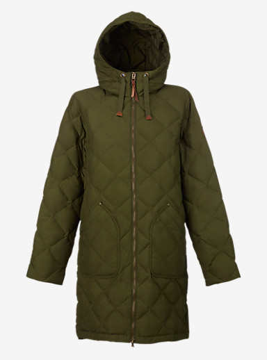 Burton Bixby Long Down Jacket shown in Keef