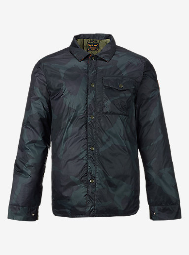 Burton Wayland Down Shirt shown in Derby Camo
