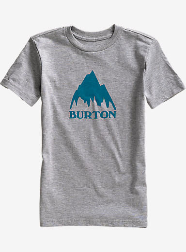 Burton Boys' Classic Mountain Short Sleeve T Shirt shown in Gray Heather
