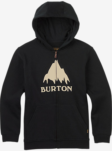 Burton Boys' Classic Mountain Full-Zip shown in True Black
