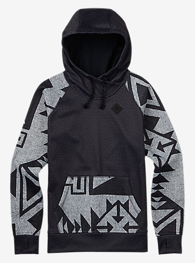 Burton Heron Pullover Hoodie shown in True Black Heather