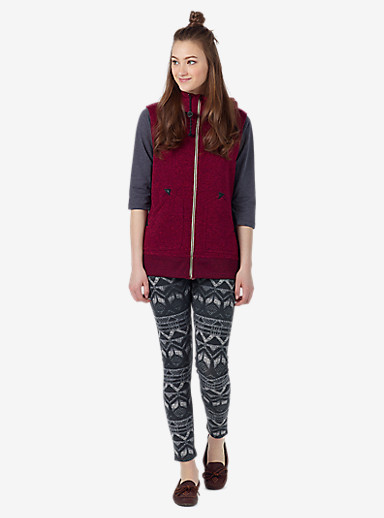 Burton Starr Vest shown in Sangria Heather