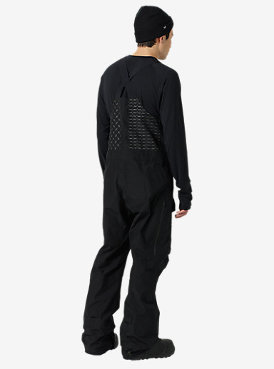 Black Scale x Burton Defender Bib Pant shown in Black Scale Black