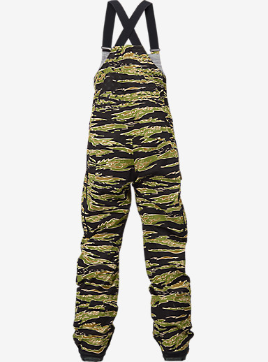 Black Scale x Burton Defender Bib Pant shown in Big Tiger