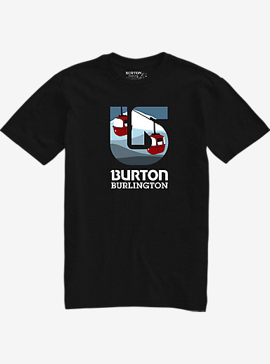 Burton City Process Short Sleeve Slim Fit T Shirt shown in Burlington Vintage Black