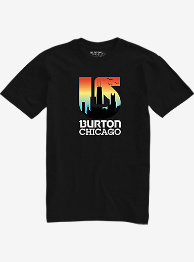Burton City Process Short Sleeve Slim Fit T Shirt shown in Chicago Vintage Black