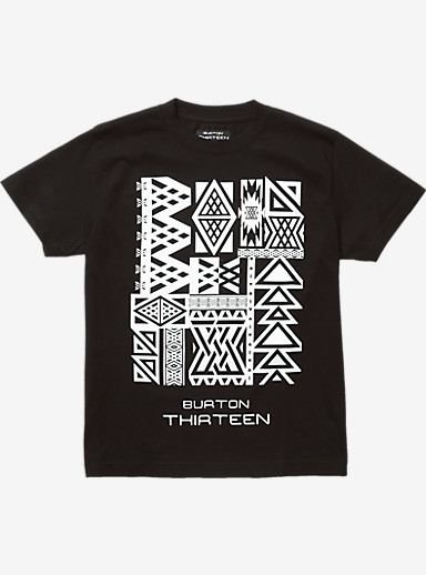 Burton THIRTEEN Saltillo Short Sleeve T Shirt shown in Black