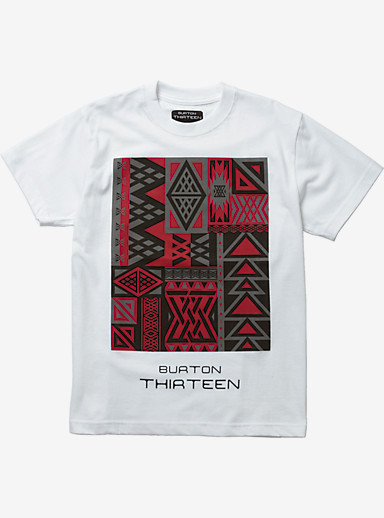 Burton THIRTEEN Saltillo Short Sleeve T Shirt shown in White