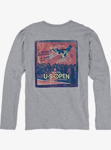 Burton US Open Long Sleeve T Shirt shown in Gray Heather