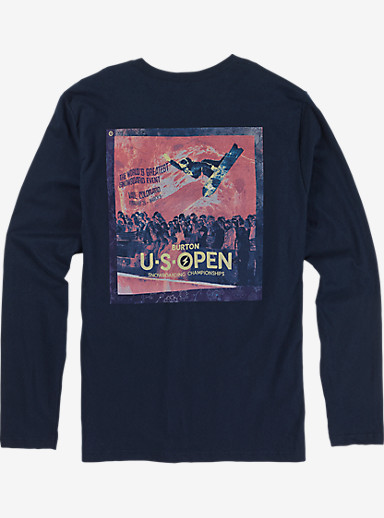 Burton US Open Long Sleeve T Shirt shown in Midnight Navy