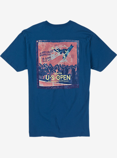 Burton US Open Short Sleeve Poster T Shirt shown in Cool Blue