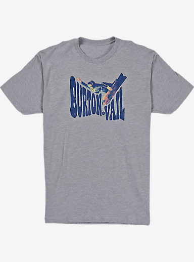 Burton US Open Misty Short Sleeve T Shirt shown in Gray Heather
