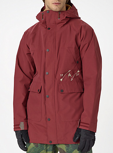 Burton Logo Vertical Full-Zip Hoodie shown in Fiery Red