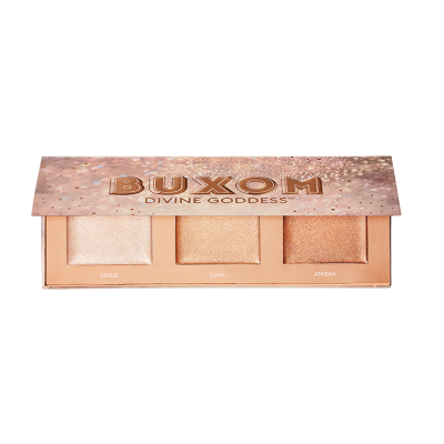 Created in collaboration with Shay Mitchell, BUXOM's Global Creative Brand Ambassador, this palette features three universally flattering shades for a flawless, lit-from-within glow. Dimensional pearls are suspended in a clear base that transforms from a cooling gel to a silky, featherweight powder.