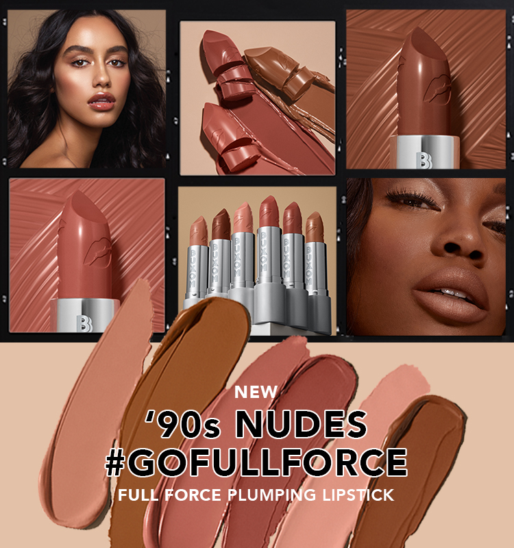 NEW  Full Force Plumping Lipstick - 90s Nudes