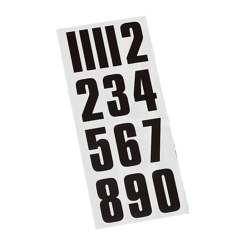 Helmet Number Stickers