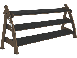 Three Tier Hex Dumbbell Rack