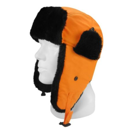 Hot Shot Faux Fur Aviator Hat - Blaze