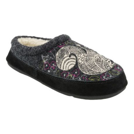 Acorn Women's Forest Mule Slippers - Grey Squirrel