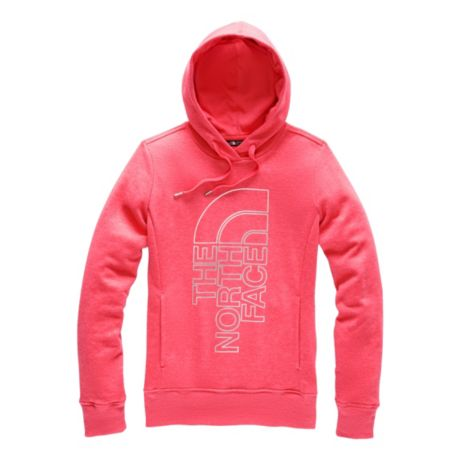 The North Face® Women's Trivert Pullover Hoodie - Spiced Coral Heather/Silver Foil