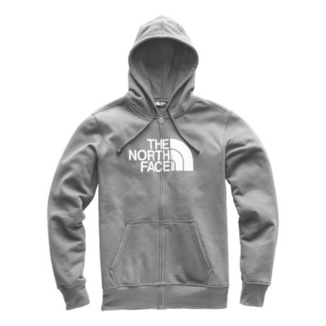 The North Face® Half Dome Full Zip Hoodie - TNF Medium Grey Heather/TNF White