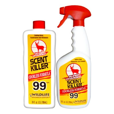 Wildlife Research Center Super Charged Scent Killer Spray - 24/24 Combo - Odourless Formula